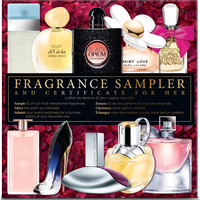 Fragrance Sampler & Certificate For Her